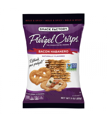 Snack Factory Pretzel Crisps Bacon Habanero 3oz (85g) Food and Groceries Snack Factory