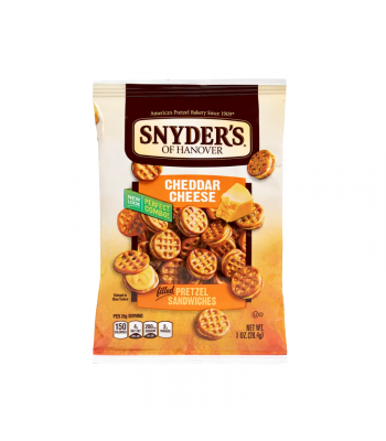 Snyder's Pretzel Sandwiches - Cheddar Cheese - 1oz (28g) Snacks and Chips Snyder's