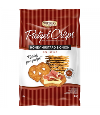 Clearance Special - Snyder's Pretzel Crisps - Honey Mustard & Onion (85g) **Best Before: 05 January 18** Clearance Zone