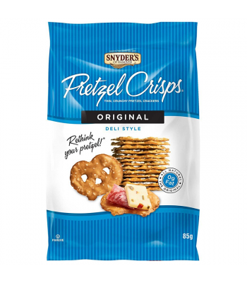 Clearance Special - Snyder's Pretzel Crisps - Original Deli Style (85g) **Best Before: 23 December 17** Clearance Zone