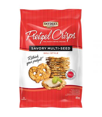 Snyder's Pretzel Crisps - Savory Multi-Seed (85g) Snacks and Chips Snyder's