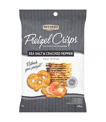 Clearance Special - Snyder's Pretzel Crisps - Sea Salt & Cracked Pepper (85g) **Best Before: 24 February 18** Clearance Zone