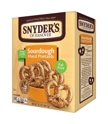 Snyder's Sour Dough Hard Pretzels 13.5oz (378g) Snacks and Chips Snyder's