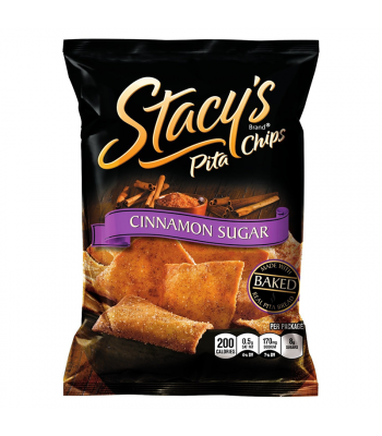Stacy's Pita Chips Cinnamon Sugar Flavour 1.5oz (42.5g) Snacks and Chips