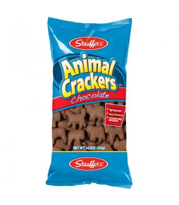 Stauffer's Chocolate Graham Animal Crackers - 14.5oz (411g) Snacks and Chips