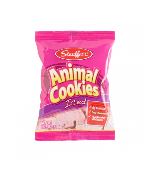 Stauffer's Iced Animal Crackers - 1.75oz (50g) Snacks and Chips