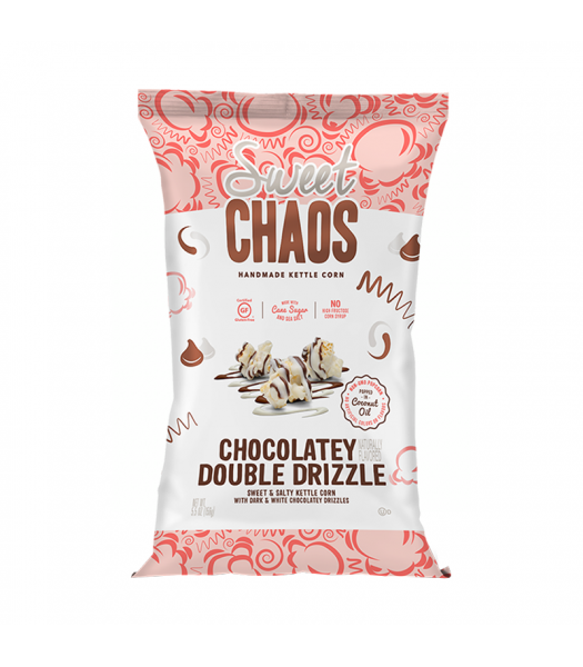 Clearance Special - Sweet Chaos Chocolatey Double Drizzle Sweet & Salty Kettle Corn - 5.5oz (155g) **Best Before: April 20** Clearance Zone