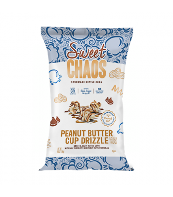 Sweet Chaos Peanut Butter Cup Drizzle Sweet & Salty Kettle Corn - 5.5oz (155g) Snacks and Chips Sweet Chaos