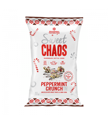 Clearance Special - Sweet Chaos Peppermint Crunch Sweet & Salty Kettle Corn - 5.5oz (155g) **Best Before: 18 April 20** Clearance Zone