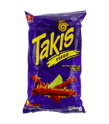 Takis Fuego Hot Chili Pepper & Lime Tortilla Chips - 9.9oz (280g) Snacks and Chips Barcel