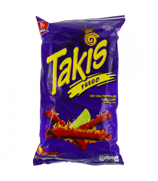 Takis Fuego Hot Chili Pepper & Lime Tortilla Chips - 9.9oz (280g) Snacks and Chips