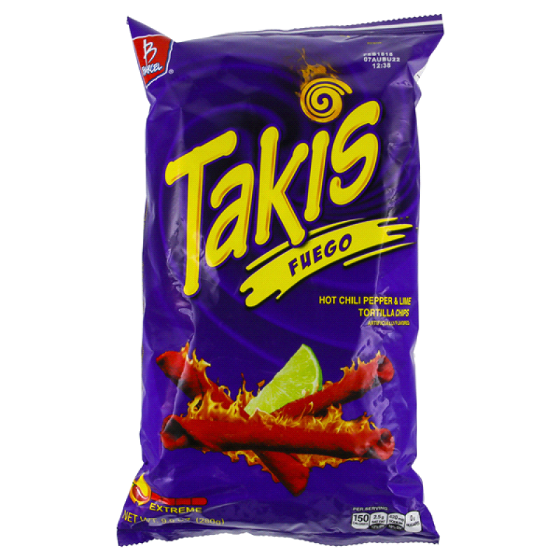 Takis Fuego Hot Chili Pepper Lime Tortilla Chips 99oz 280g