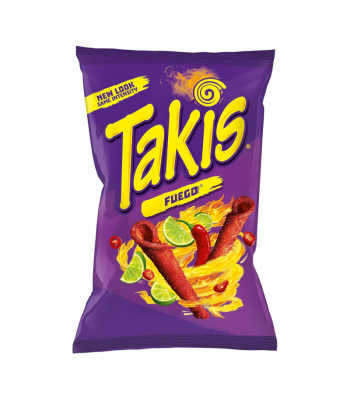 Takis Fuego Rolled Tortilla Corn Chips - 55g Snacks and Chips