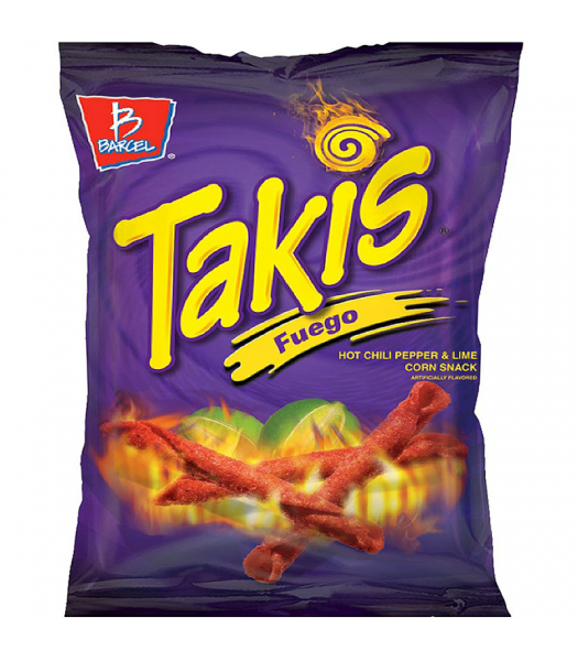 Takis Fuego Hot Chili Pepper & Lime Tortilla Chips - 4oz (113.4g) Snacks and Chips Barcel