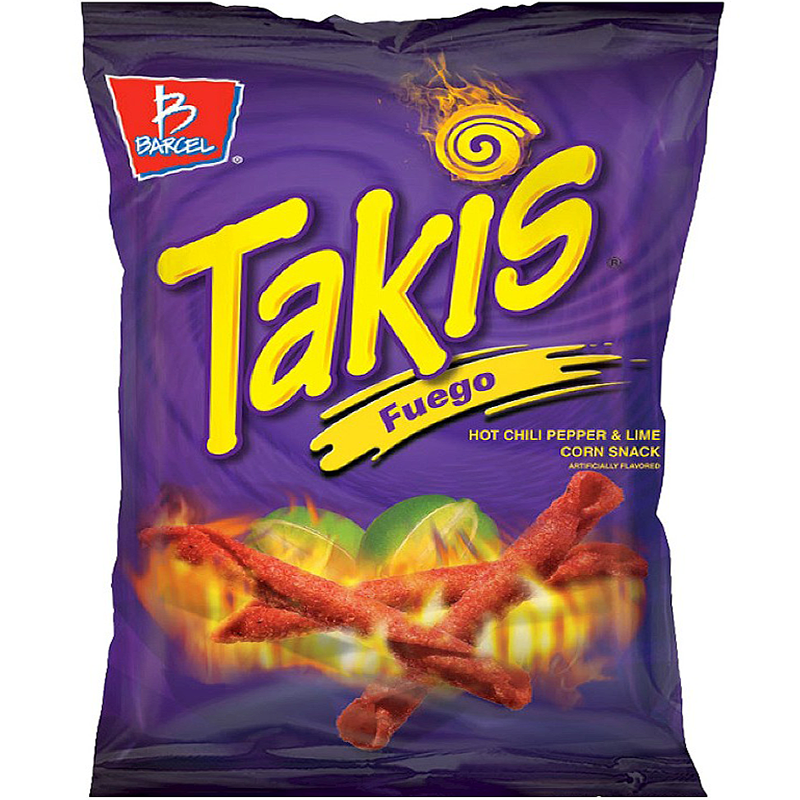 Takis Fuego Hot Chili Pepper Lime Tortilla Chips 4oz 1134g