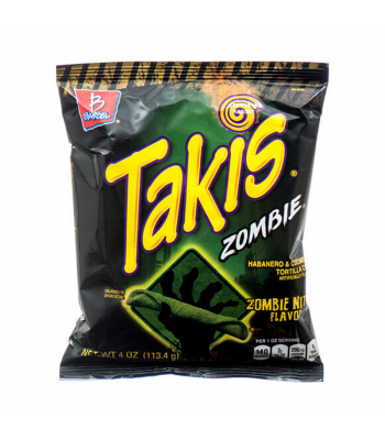 Takis Zombie Nitro Flavour Habanero & Cucumber Tortilla Chips - 4oz (113g) Snacks and Chips Barcel