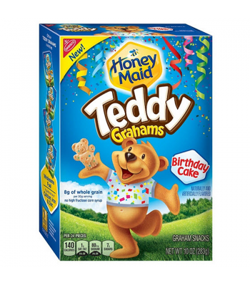 Teddy Grahams Birthday Cake Flavour Cereal Snack 10oz (283g) Breakfast & Cereals Teddy Grahams