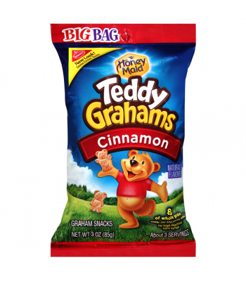 Teddy Graham Cinnamon Big Bag 3oz (85g) Cookies and Cakes Teddy Grahams