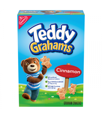 Teddy Grahams Cinnamon Cereal Snack 10oz (283g) Cookies and Cakes Teddy Grahams