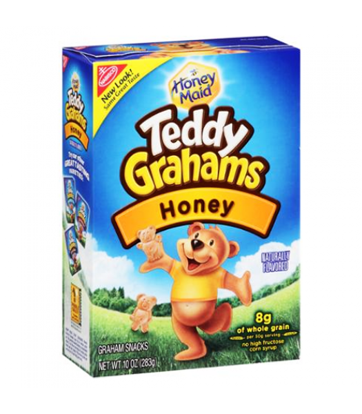 Teddy Grahams Honey Cereal Snack 10oz (283g)  Cookies and Cakes Teddy Grahams