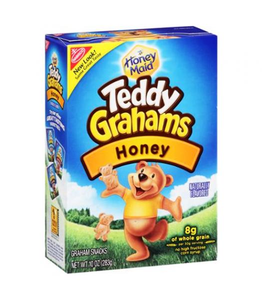 Teddy Grahams Honey Cereal Snack 10oz (283g)  Crackers Teddy Grahams