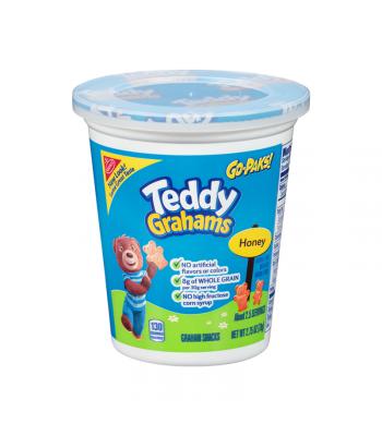 Teddy Grahams Honey Graham Snacks Go Pak - 2.75oz (78g) Cookies and Cakes Teddy Grahams