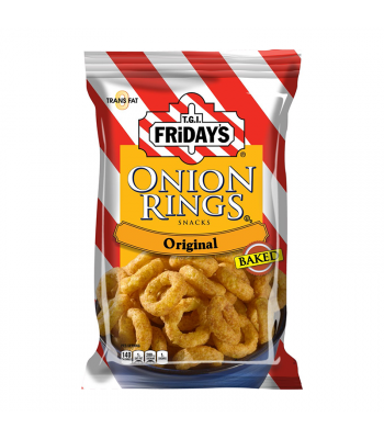 TGI Fridays Onion Rings Baked Snacks 2.75oz (80g) Food and Groceries TGI Fridays