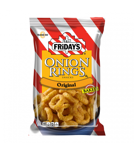TGI Fridays Onion Rings Baked Snacks 2.75oz (80g) Food and Groceries