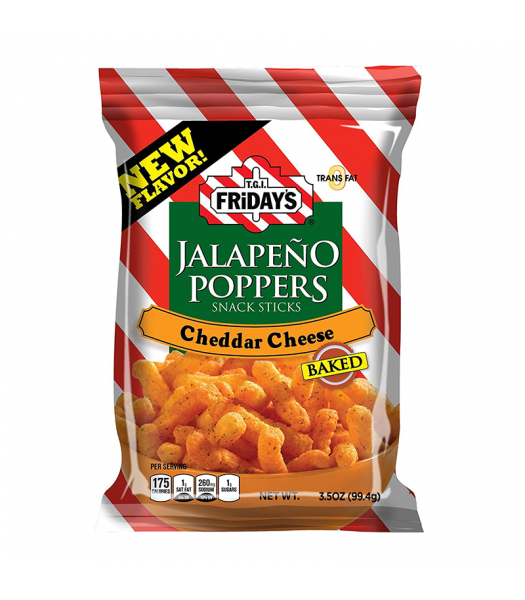 TGI Fridays Jalapeño Poppers Snack Sticks - 3.5oz (99.4g) Snacks and Chips TGI Fridays