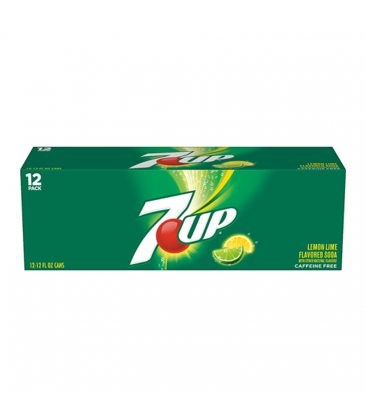 7UP Lemon Lime - 12fl.oz (355ml) 12-Pack Soda and Drinks 7Up