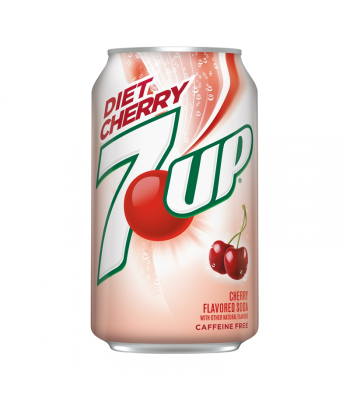 7UP Diet Cherry - 12fl.oz (355ml) Soda and Drinks 7Up