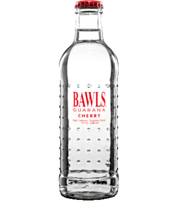 Bawls Guarana Cherry 10oz (284ml) Bottle Soda and Drinks