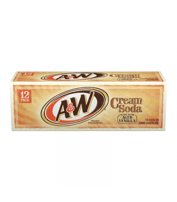 A&W Cream Soda - 12-Pack (12 x 12fl.oz (355ml)) Soda and Drinks A&W