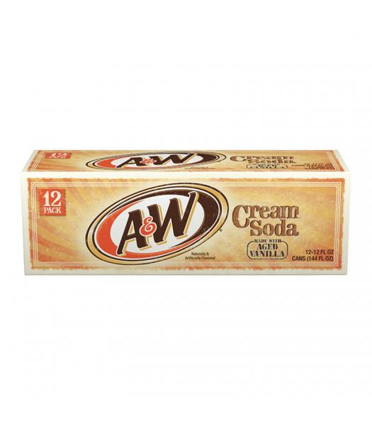 A&W Cream Soda - 12-Pack (12 x 12fl.oz (355ml)) Soda and Drinks A&W