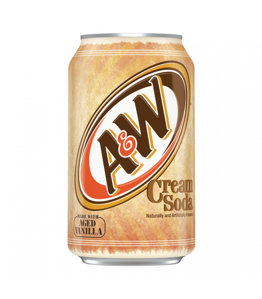 A&W Cream Soda - 12fl.oz (355ml) Soda and Drinks A&W