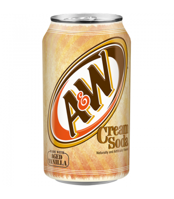 A&W Cream Soda Can 355ml Soda and Drinks A&W