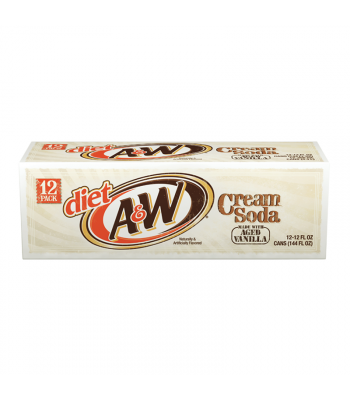 A&W Diet Cream Soda - 12-Pack (12 x 12fl.oz (355ml))