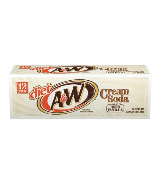 A&W Diet Cream Soda - 12-Pack (12 x 12fl.oz (355ml))