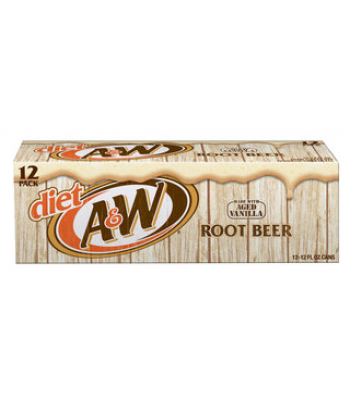 A&W Diet Root Beer 12-Can Fridge Pack Soda and Drinks