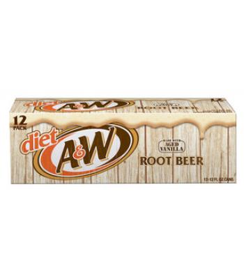 A&W Diet Root Beer 355ml - 12 pack Diet Soda A&W