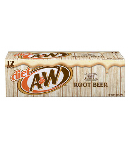 A&W Diet Root Beer 12-Can Fridge Pack Soda and Drinks A&W