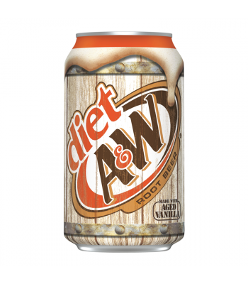 A&W Diet Root Beer - 12fl.oz (355ml) Soda and Drinks A&W