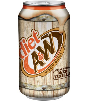 A&W Diet Root Beer 355ml Soda and Drinks A&W