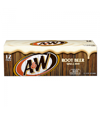 A&W Root Beer 12-Pack (12 x 12fl.oz (355ml) Cans) Soda and Drinks A&W