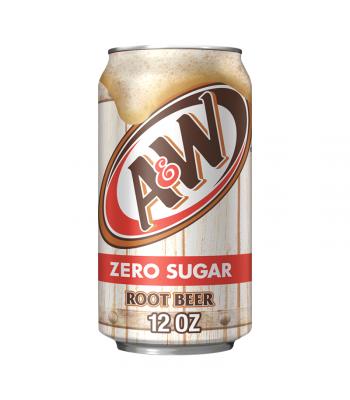 A&W Zero Sugar Root Beer - 12fl.oz (355ml) Soda and Drinks A&W