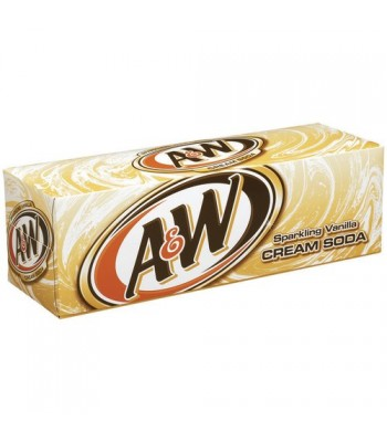 A&W Cream Soda 12 pack cans 355ml Soda and Drinks A&W