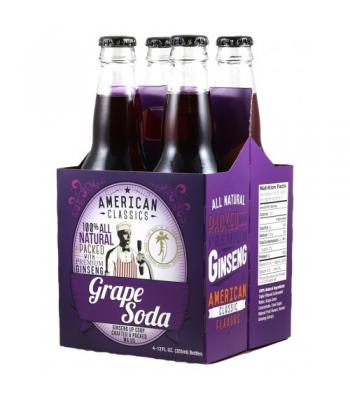 American Classics - Grape Soda 12oz (355ml) - 4 PACK