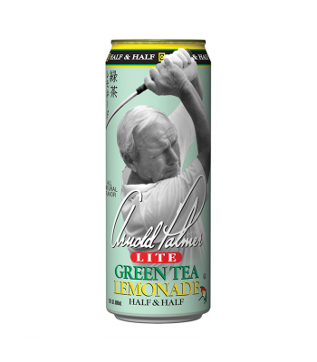 AriZona - Arnold Palmer Lite Half & Half Green Tea Lemonade - 23fl.oz (680ml) Soda and Drinks Arizona
