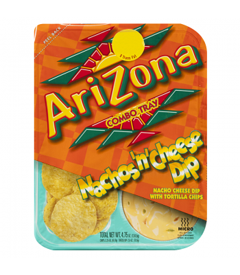 AriZona Combo Tray Nachos 'n' Cheese Dip 4.75oz (134.6g) Snacks and Chips Arizona