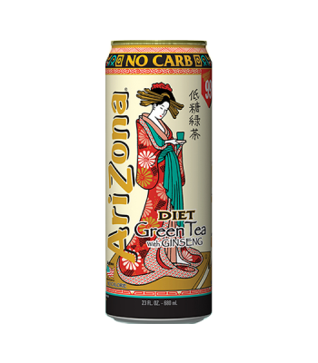 Arizona Diet Green Tea with Ginseng 23oz (680ml) Iced Tea AriZona